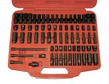 "ATD 2271 1/4"" Dr Sae & Metric Impact Socket Set 71 PC Extensions Case"
