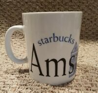 Starbucks Coffee Mug • Amsterdam • White / Blue Collector Series City Mug