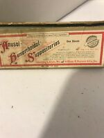Vintage Anusol Hemorrhoidal Suppositories Box  Empty