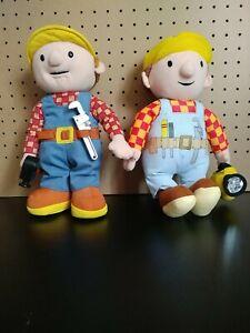 """Hasbro Bob the Builder Talking Plush 12"""" Toy & Regular 12"""" Plush"""