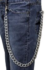 Wallet Chain KeyChain Rocker Strong Silver Metal Extra Long Chunky Links Biker