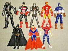 Marvel & Dc Action Figures Lot of 8 Spiderman Ironman Batman Capt. America Super