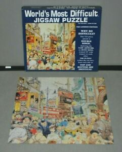 Worlds Most Difficult 529 Piece Double Sided Jigsaw Puzzle London - Complete