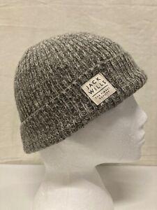 Jack Wills Grey Beanie Hat Unisex - One Size (001)