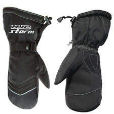 HJC Storm Snowmobile Cold Weather Snow Mitts Gloves All Black XLarge XL