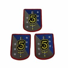 "Babylon 5 Tv Series Army of Light Sword & Shield 2 1/2"" Tall Set of 3 Patches"