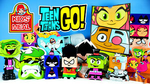Teen Titans Go! Party & Crafty in every Bag 2015 Wendy's Kid's Meal Toys USED