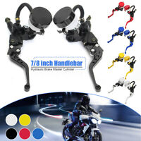 """7/8"""" Universal Motorcycle Hydraulic Brake Clutch Lever Master Cylinder  KN! HL"""