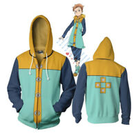Seven Deadly Sins Grizzly's Sin of Sloth King Cosplay Costume Hoodie Jacket Coat