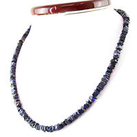 Earth Mined 138.00 Cts Single Strand Blue Tanzanite Untreated Beads Necklace