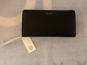 Tory Burch Womens Perry Zip Continental Wallet Black