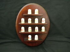 Franklin Mint Collectable Sewing Thimbles