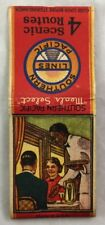 Vintage Matchbook Southern Lines Pacific Dining Car Black Americana Train