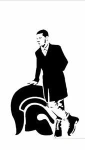 Vinyl wall Decal Sticker Skinhead Man logo Looking Left 70s 80s Music Ska