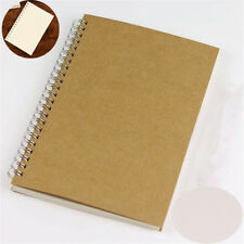 Bullet Journal Notebook A5 Hardcover Cardboard Dot Grid Spiral Journal White