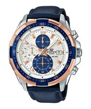 Casio Edifice Blue/Gold Analogue Watch EFR539L-7C EFR-539L-7CV