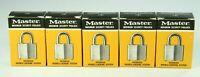 New Vintage Lot Of 5 Master 3 Secret Service Laminated Steel Padlocks With Keys