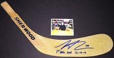 Scott Laughton Flyers  Autographed Signed Stick Blade 1st NHL Goal 12-13-14