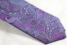 CANALI PAISLEY TIE - PURPLE - NEW IN PLASTIC W/ TAGS  - FREE BOXED SHIP