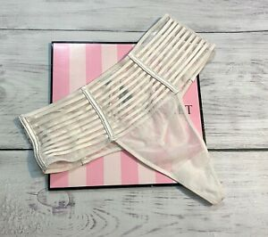 Victoria's Secret Luxe Sheer Mesh High Waist Strappy Thong Panty $29.5 retail