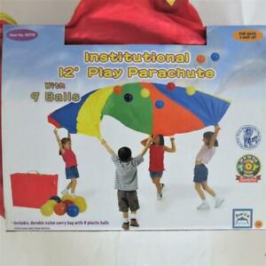 12 Feet Kids Pacific Play & Exercise Multicolor Institutional Parachute NEW