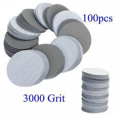 100pcs 3'' 75mm 3000 Grit Sander Disc Sanding Polishing Pad Abrasive Sandpaper