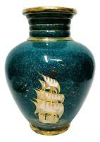 vaso in ceramica barraud messeri & c - bm&c anni 40 veliero vintage sesto fior.
