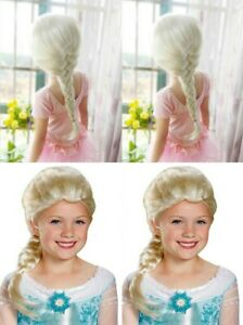 US Braid Frozen Elsa Princess None Lace cosplay wig  Blonde For child