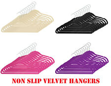 Non Slip Luxury Flocked Coat Hangers Velvet Clothes Trouser Hanging Space Saving