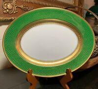 "Rosenthal Aida Principessa Emerald Green w/Gold 12 3/4"" Serving Platter 3032"