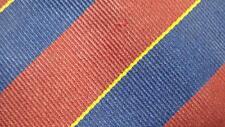 LANDS' END RED DARKBLUE YELLOW STRIPE SILK NECKTIE TIE MMA2217B #R32