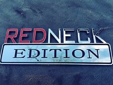 💵 REDNECK EDITION CAR TRUCK FORD EMBLEM LOGO DECAL SIGN CHROME RED NECK NEW 1