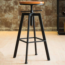 VINTAGE RETRO INDUSTRIAL LOOK RUSTIC SWIVEL KITCHEN BAR STOOL CAFE CHAIR