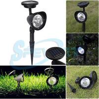 4-LED Lampe solaire Jardin Projecteur Extérieur Eclairage Cour paysage lumière