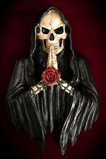 Grim Reaper Statue-Wall Hanging Mount-Holy Death Skeleton Skulls Praying-Gothic