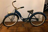 "Vintage 1951 Schwinn Starlet D-67 Bicycle Original 26"" - Head light Rare Chicago"