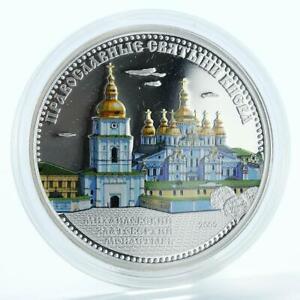 Cook Islands 5 dollars Mikhailovsky Monastery proof silver coin 2009