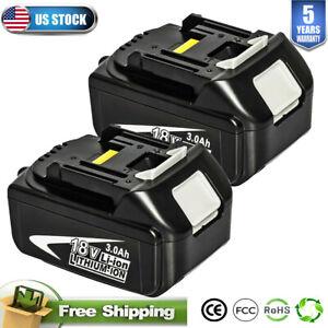 2PACK For Makita 18 Volt BL1830 BL1820 BL1815 LXT Lithium-ion 18V 3.0Ah Battery