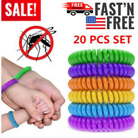 20 Pack Natural Mosquito Repellent Bracelet Bug Insect Protection Deet-Free USA