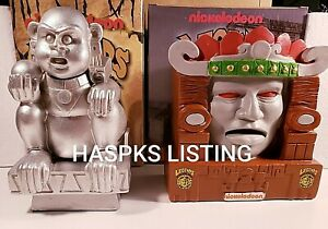 NICKELODEON LEGENDS OF THE HIDDEN TEMPLE SILVER MONKEY/OLMEC SEE CONDITION NOTES