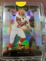 Nick Chubb 2018 Select Football Premier Level Silver Prizm Refractor RC Browns