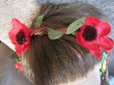 Flower hair bandeaux brown string hairband fabric daisy floral band headband