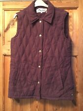 PASTEL Ladies Purple Padded/Quilted Gilet Size S