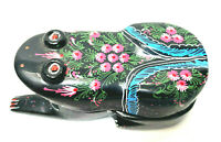 Hand Carved Frog Trinket Box Intricate Painting Thailand