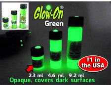 Glow-On® GREEN Super Glow Paint for Gun Night Sights, 2.3ml small vial,