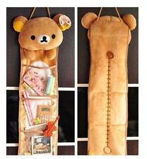 New Soft Plush Rilakkuma San-X Wall Hanging Storage Bag 3 Pockets