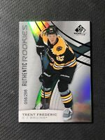 2019-20 SP GAME USED TRENT FREDERIC AUTHENTIC ROOKIE RAINBOW FOIL #ed 58/298