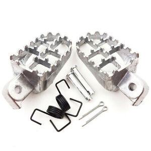 CNC Universal Racing Motorcycle Bike Folding Foot Pegs Footpegs Rear Pedals Kit
