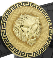 BRAND NEW LION FACE LUXURY PIN BUCKLE ONLY FOR 38 MM BELTS ROUND BELT BUCKLES