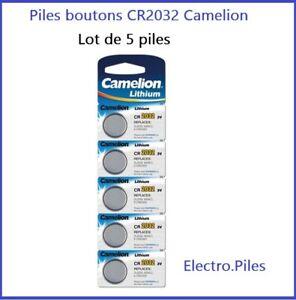 Lot de 5 Piles Cells boutons CR2032 3V lithium de marque Camelion